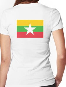 BURMA, Burmese, Burmese Flag, Flag of Burma, Burma Flag, Myanmar Womens Fitted T-Shirt