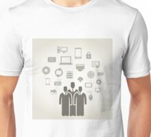 Person the computer Unisex T-Shirt