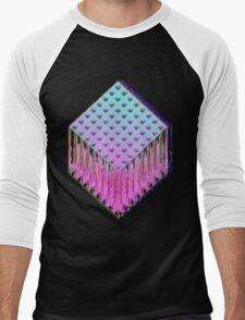 Trine-Glitch Men's Baseball ¾ T-Shirt