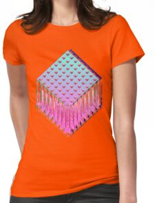 Trine-Glitch Womens Fitted T-Shirt