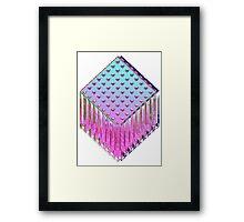 Trine-Glitch Framed Print