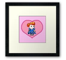 Lucy pixel  Framed Print