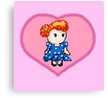 Lucy pixel  Canvas Print