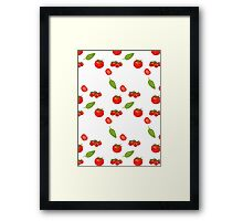 tomatoes on white Framed Print