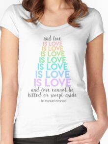 Love is Love - Lin-Manuel Miranda Women's Fitted Scoop T-Shirt