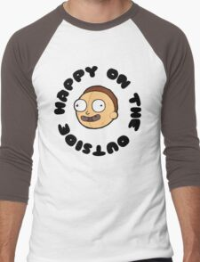 Happy on the outside  Men's Baseball ¾ T-Shirt