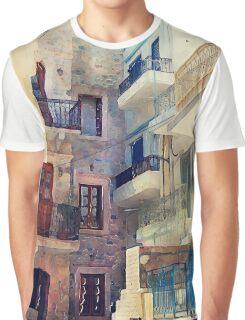 Kalymnos Greek Island architecture Graphic T-Shirt
