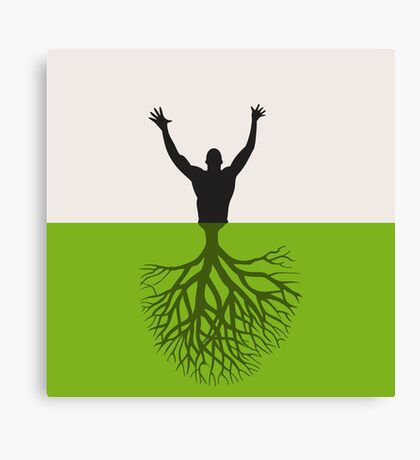 Tree the person Canvas Print