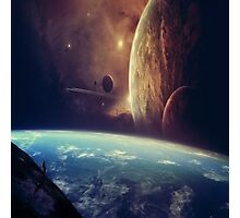 Space Fantasy Earth Photographic Print
