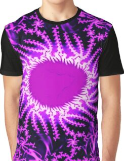 Psychedelic Purple Energy Fractal  Graphic T-Shirt