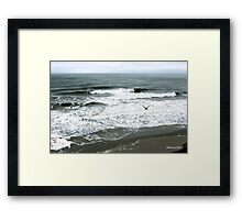 Incoming Breakers ~ Stormy High Tide Framed Print