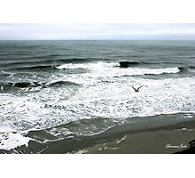 Incoming Breakers ~ Stormy High Tide Photographic Print