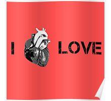 Love Cool Cute Street Art Heart Poster