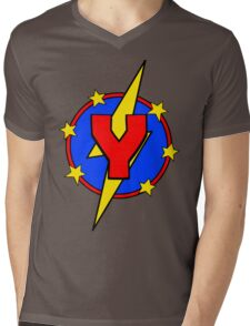 My Cute Little Super Hero - Letter Y Mens V-Neck T-Shirt