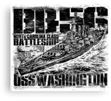 Battleship Washington Canvas Print