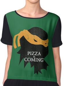 Pizza is Coming Chiffon Top