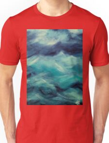 Stormy Sea Ocean Blue Turquoise Aqua Waves Powerful Strong Unisex T-Shirt
