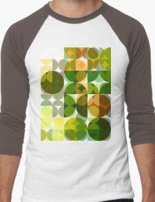 Cactus Garden Abstract Circles 3 Men's Baseball ¾ T-Shirt