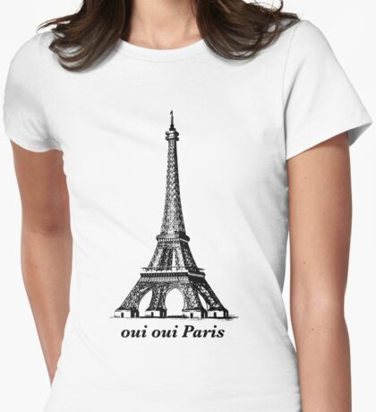 Oui Oui Paris Womens Fitted T-Shirt