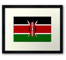 KENYA, Flag of Kenya, Swahili, Bendera ya Kenya, African Flags, Africa Framed Print
