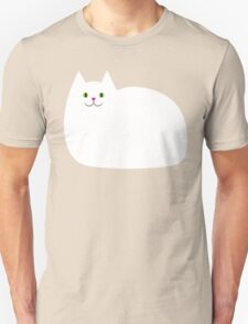 Cute White Kitty Cat Unisex T-Shirt