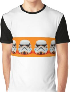 Lego Storm Troopers on orange Graphic T-Shirt