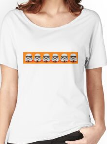 Lego Storm Troopers on orange Women's Relaxed Fit T-Shirt