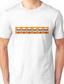 Lego Storm Troopers on orange Unisex T-Shirt