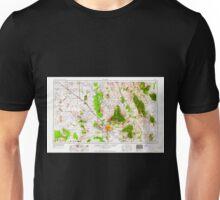 USGS TOPO Map Arizona AZ Tucson 315608 1962 250000 Unisex T-Shirt