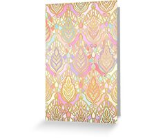 Rosy Opalescent Art Deco Pattern Greeting Card