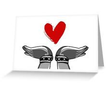Hands with heart. Greeting Card