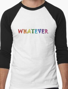 Whatever Funny Cute Rainbow Colors Unisex Men's Baseball ¾ T-Shirt