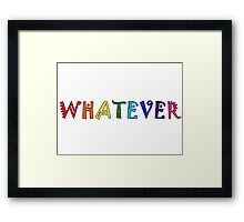 Whatever Funny Cute Rainbow Colors Unisex Framed Print