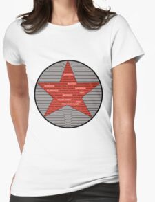 Winter Soldier Trigger Words Womens Fitted T-Shirt