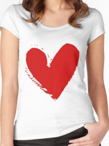 With love. Women's Fitted Scoop T-Shirt