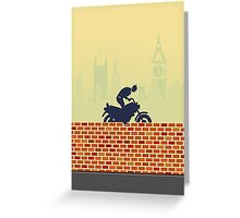 Funny biker Greeting Card