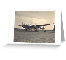aircraft (p-38 lightning) WWII Greeting Card