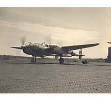 aircraft (p-38 lightning) WWII Photographic Print