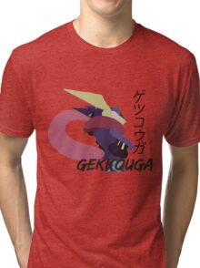 Japanese Greninja! Tri-blend T-Shirt