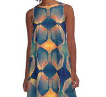 Geometric Reflection A-Line Dress