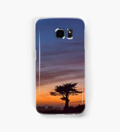 Cypress tree at sunset- Santa Cruz Samsung Galaxy Case/Skin