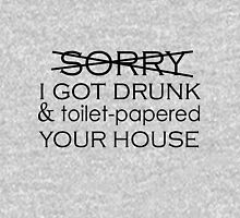 SORRY I TOILET-PAPERED YOUR HOUSE Mens V-Neck T-Shirt