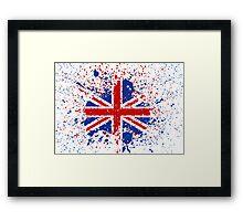 UK Union Jack Splash Colors Flag Framed Print