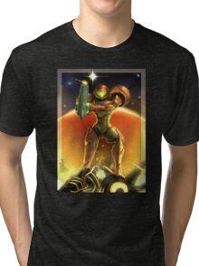 Metroid 30th Anniversary - Samus Aran Tri-blend T-Shirt