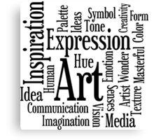Art and Creativity Artist's Word Cloud Canvas Print