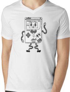 Goofy Game Boy Guy Mens V-Neck T-Shirt