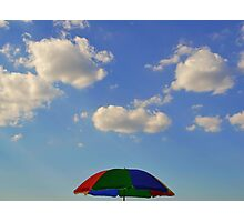 sunscreen, blue sky, clouds Photographic Print