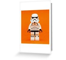 Lego Storm Trooper on Orange Greeting Card
