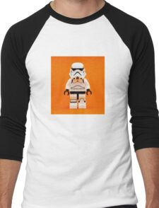Lego Storm Trooper on Orange Men's Baseball ¾ T-Shirt