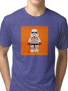 Lego Storm Trooper on Orange Tri-blend T-Shirt
